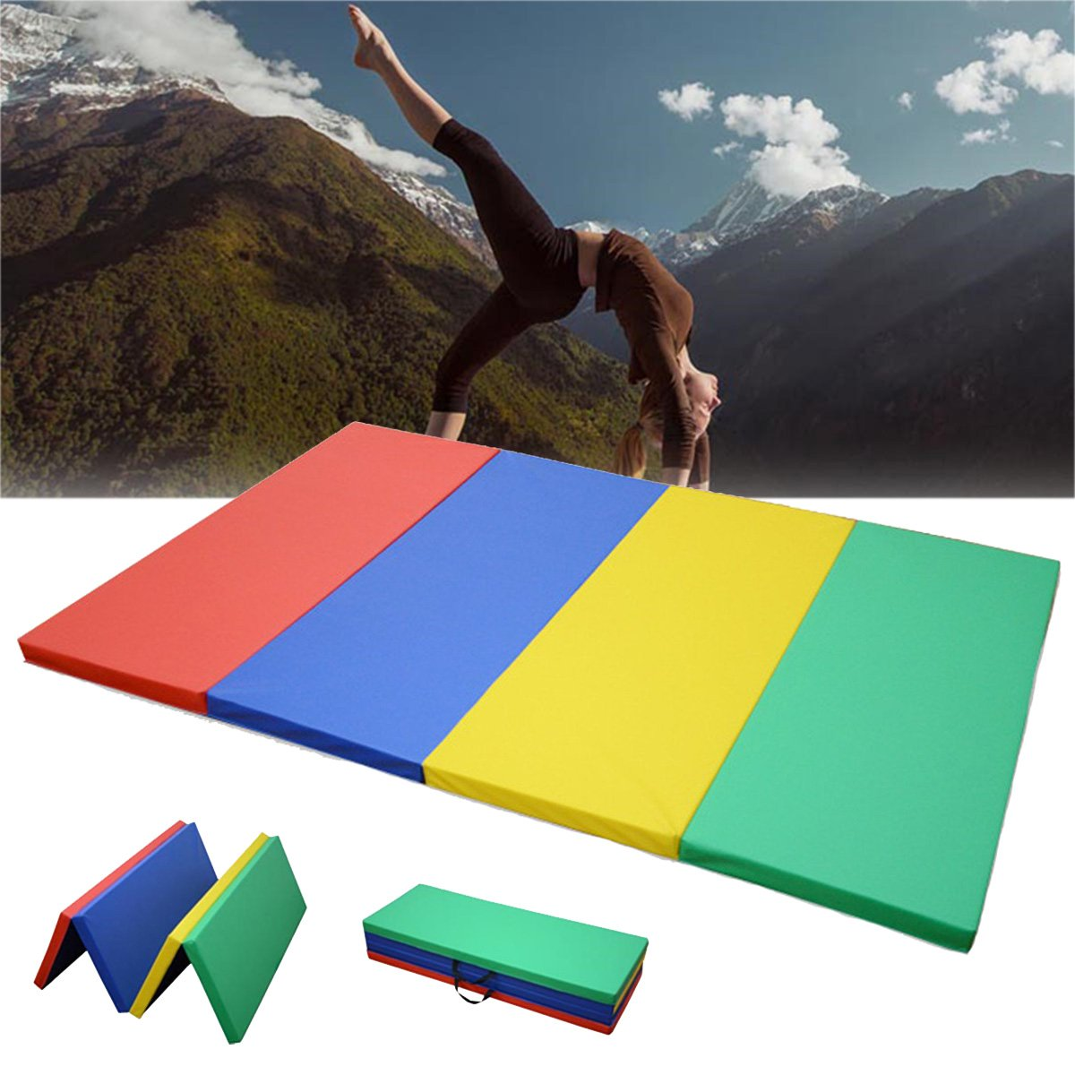 Plat Firm 70x47x1,97 Zoll Folding Gymnastik Panel Gym Ãœbung Yoga Pad Tumbling Fitness Mat
