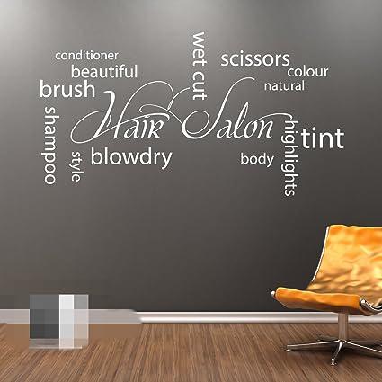 Amazon.com: FAWER HAIR SALON Collage Wall Art Vinyl Sticker ...