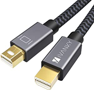 Mini DisplayPort to Mini DisplayPort Cable, 4K 60Hz Mini DP Cable iVANKY Mini Display Port Cable 2M/6.6ft, Grey, Compatible with MacBook Pro/Air. iMac, Surface, Dell, ASUS