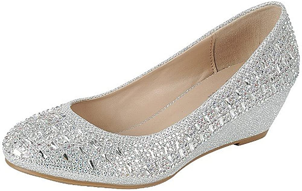 Amazon.com   Forever Womens Low Wedge