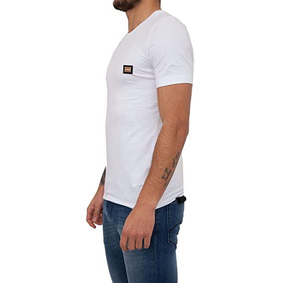 8e7f5ce8dd54 Moschino Slim Fit Logo Crew Neck T-Shirt XL White: Amazon.co.uk: Clothing