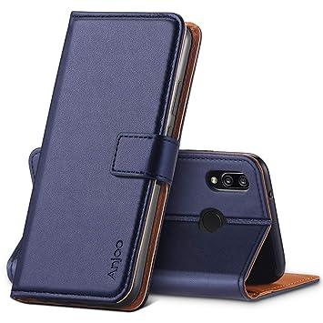 Anjoo Compatible para Funda Huawei P20 Lite,Carcasa P20 Lite de Cuero Suave de la PU con Tapa Cubierta Protectora de la Caso Trasera para Huawei P20 ...