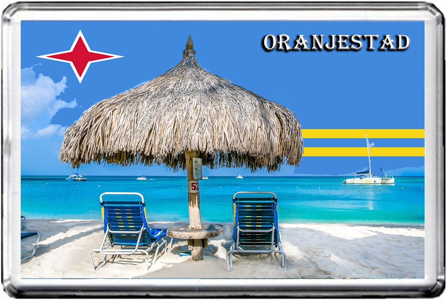 ORANJESTAD FRIDGE MAGNET 003 THE CITY OF ARUBA REFRIGERATOR MAGNET
