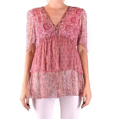 nuovo stile d6680 0602b Twin-Set Damen Bluse Kurzarm pink (71) 40: Amazon.de: Bekleidung