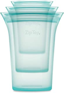 product image for Zip Top Reusable 100% Silicone Food Storage Bags and Containers - 3 Cup Set - Teal