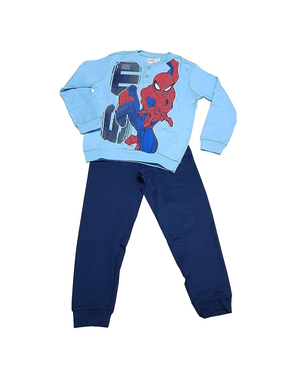 Art. 33139 SPIDER-Man Pigiama Due Pezzi in Caldo Cotone per Bambino