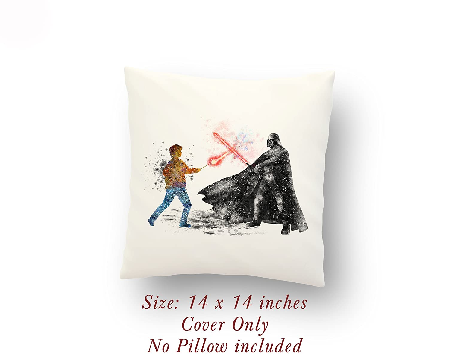Star Wars Harry Potter vs Darth Vader 14 x 14 inches Pillow Cover
