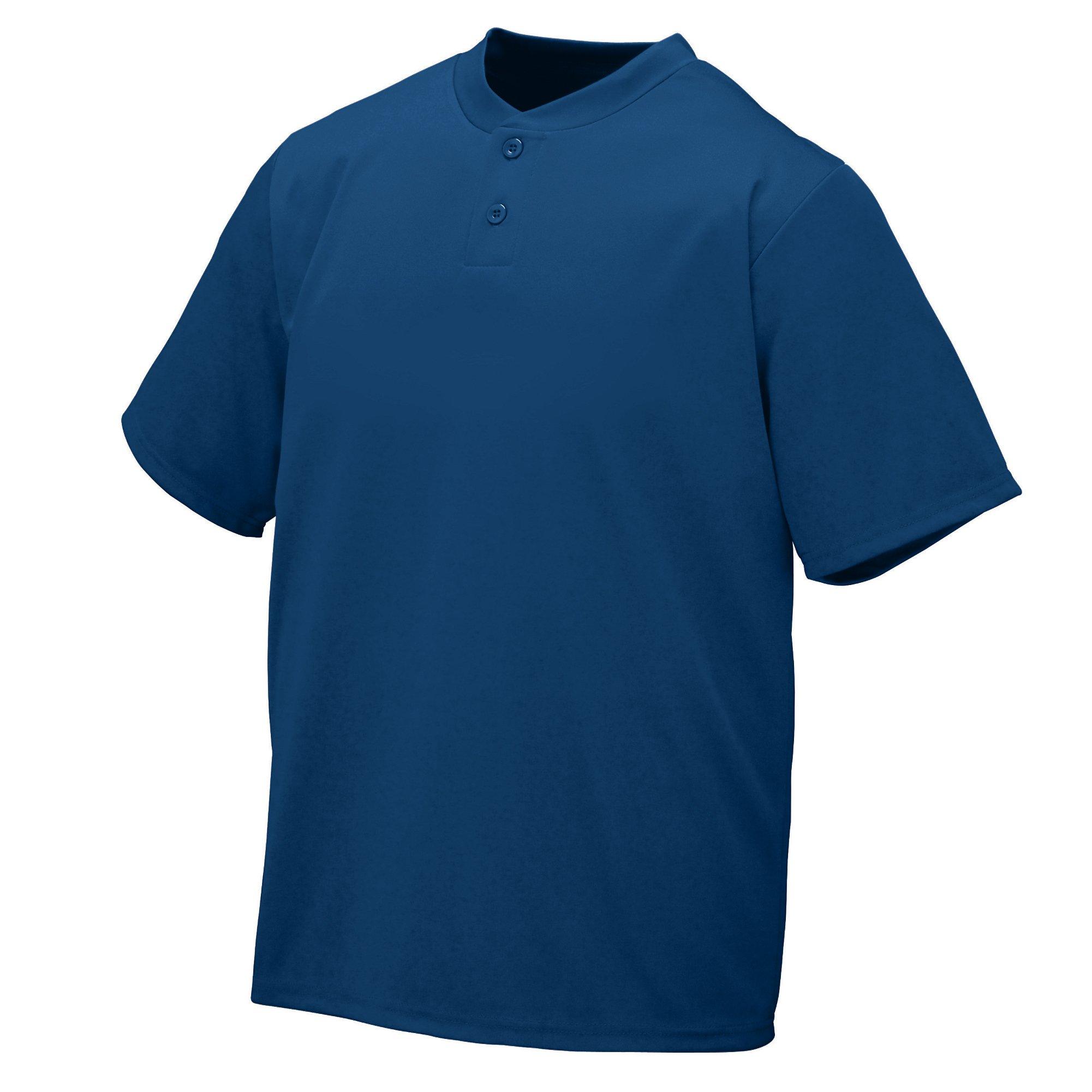 Augusta Sportswear Wicking Two-Button Jersey S Navy by Augusta Sportswear