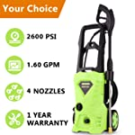 Meditool MT7 2600 PSI High-Pressure Power Washer