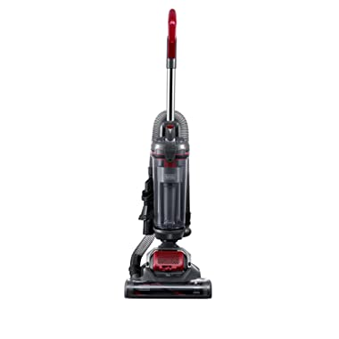 Black & Decker AIRSWIVEL Ultra Light Weight Upright Cleaner, Versatile Vacuum, Titanium with Monza Red