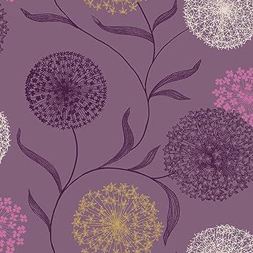 Plum Purple Gold 10440 Starburst K2 Holden Wallpaper