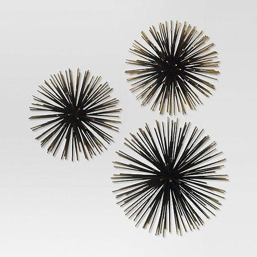 Sea Urchin Wall D cor Gold