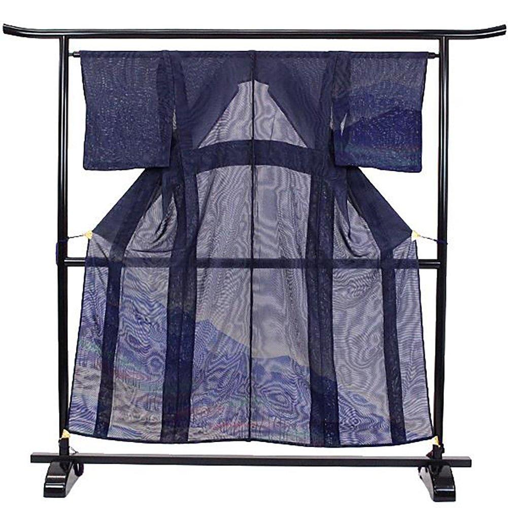 訪問着 正絹 着物 きもの 夏 二重紗 山水 青紫 和装 リサイクル【中古】 90023858 B0794Y6TS3
