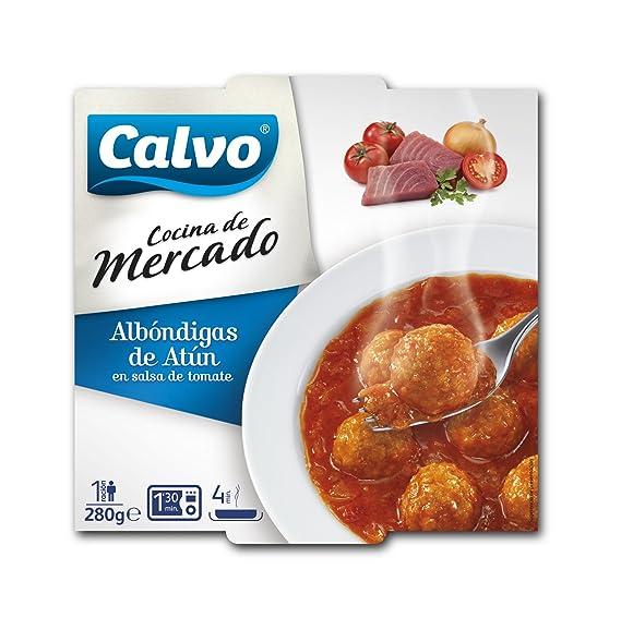 Calvo Cocina de mercado - Albondigas de Atún en Salsa de Tomate, 280 g