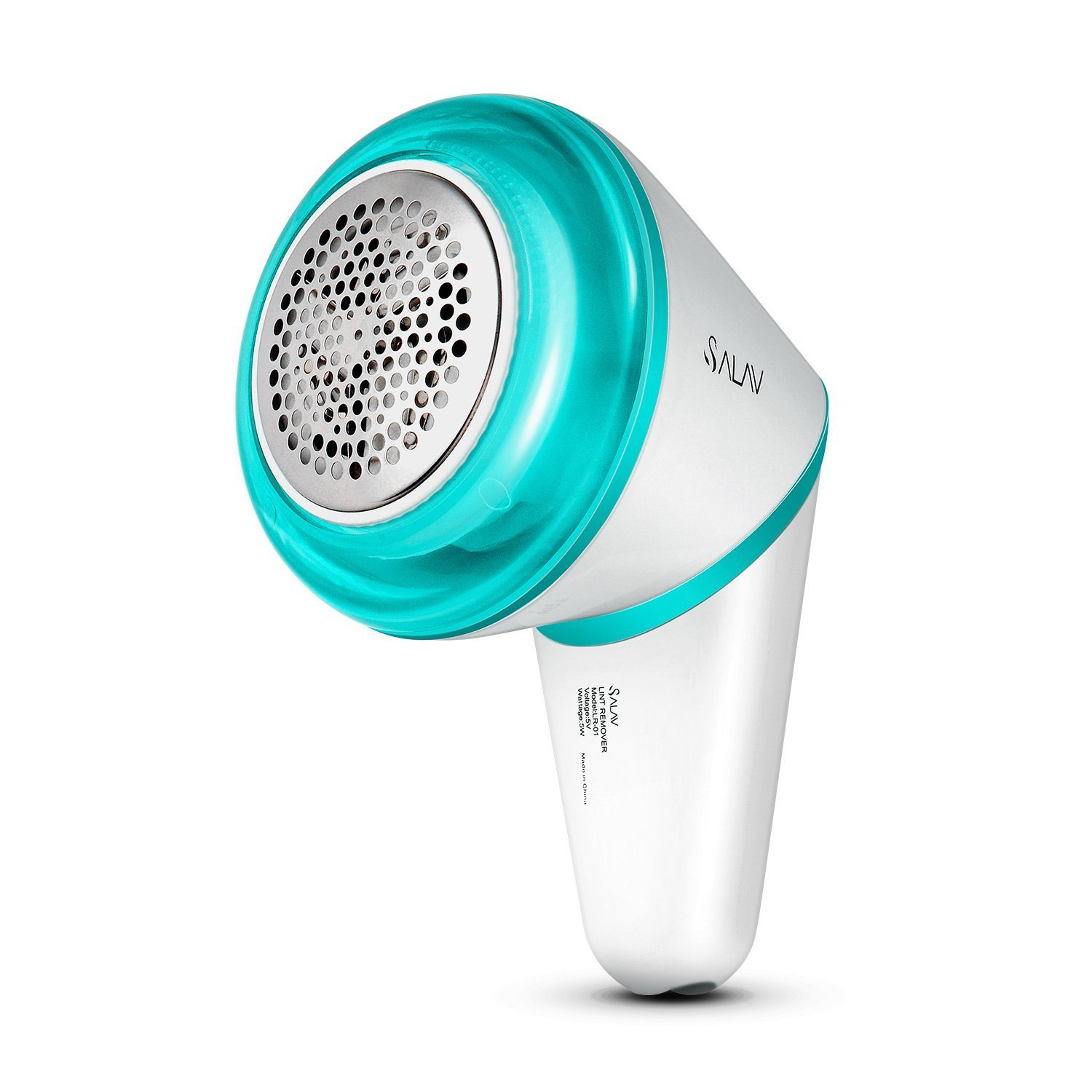 SALAV Lint Shaver Fabric Remover Batteryfree USB Rechargeable Cordless Portable with Brush for Home and Travel, Ice Blue, LR-01