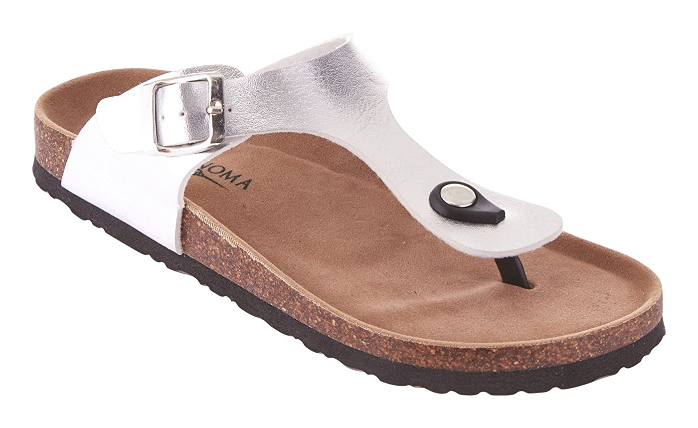 697a383aa21 STYLISH DESIGN  These thong sandals for women are the latest trend and  absolutely essential for spring and summer. The slide design and the  buckles make ...