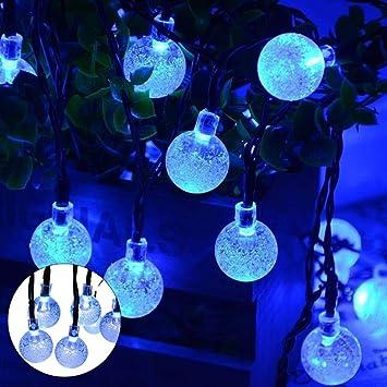 Teepao Solar String Lights, 23ft 50 LED Outdoor Crystal Ball Fairy Lights,  Waterproof Nautical