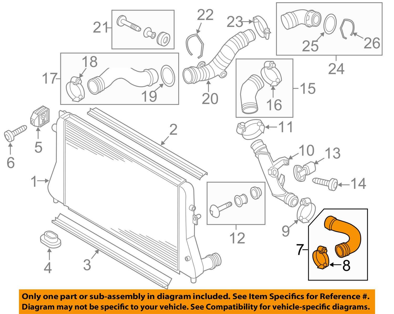 Genuine Pressure hose VW Beetle Convertible CC Eos 1K0145834AJ