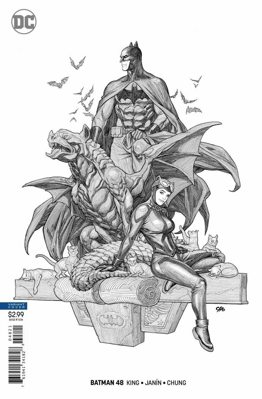 Batman (2016) #48 VF/NM Frank Cho Batman Catwoman Variant Cover Wedding DC
