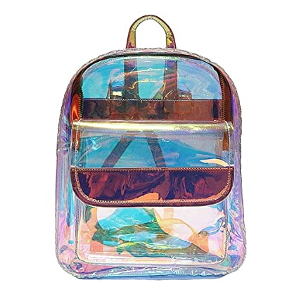 Amazon.com | Redriver Clear PVC Transparent Glaring Backpack Especially For Girls | Kids Backpacks