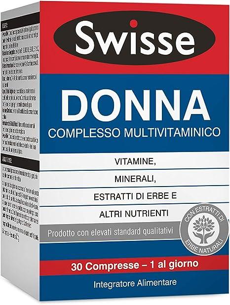 Swisse Donna Multivitaminico Integratore Alimentare Multi Nutriente Per Integrare La Nutrizione Delle Donne 30 Compresse Amazon It Salute E Cura Della Persona