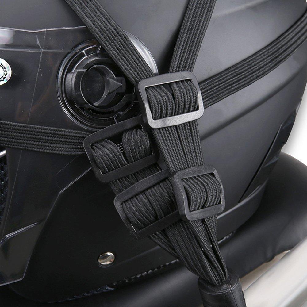 Roll-Elastic Seil Bungee Cord Bandage Umreifung Tape Gummiband mit 4/Haken 2/St/ück Motorrad Helm Gep/äck Seil