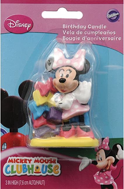 Amazon.com: Wilton vela decorativa, S, Minnie Mouse: Toys ...