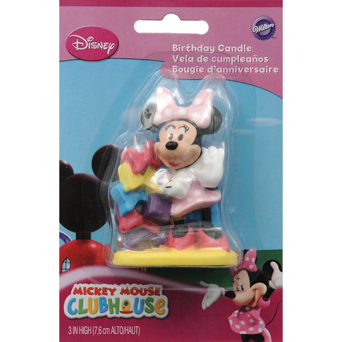 Wilton Disney Mickey Mouse Clubhouse Minnie Candle 2811-6363