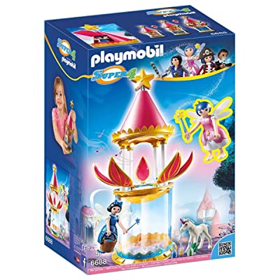 PLAYMOBIL Super 4 Musical Flower Tower with Twinkle Building Kit: Toys & Games