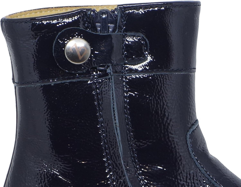 Zecchino D\'oro A06–670Fille Bottes/Bottines pour Femme avec Nœud et Motif Budapest Blau Knautschlack 6580