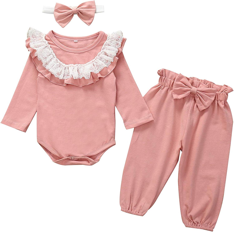 DAYTOYXZ - Conjunto de ropa para recién nacido y niña, de manga larga, conjunto de pantalones, ropa para recién nacido