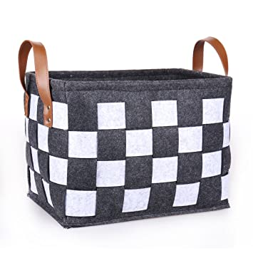 Genial TheWarmHome Felt Storage Bin Decorative Storage Basket For Shelves Clothes  Basket Toy Bin Rectangle Organizer Bins