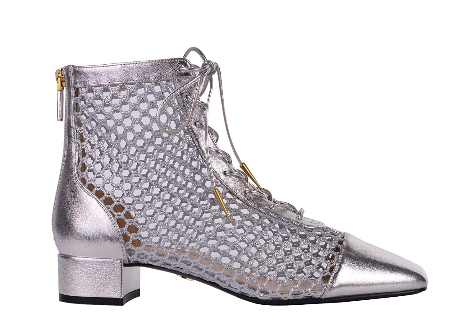fea591d96b Amazon.com | Dior Womens Naughtily-D Silver Laminated Leather Mesh ...