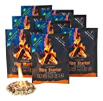 InstaFire Granulated Fire Starter, All Natural, Eco-Friendly, Lights Fires in Any Weather - 4 Fires Per Pouch, Awarded...