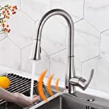 Touchless Kitchen Faucet Automatic Motion Sensor Single Handle with 2 Modes Pull Down Sprayer, Brushed Nickel Sink Faucet wit