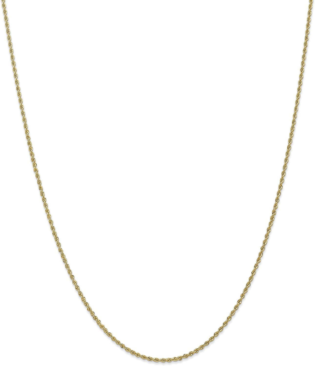 CoutureJewlers 14k 1.50mm D//C Rope with Lobster Clasp Chain 6 INCH