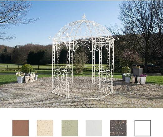 Templete de metal para jardín de CLP, modelo Leila, redondo, 229 cm de diámetro, altura de 313 cm, de hierro, diseño sencillo y elegante, Antik Creme: Amazon.es: Jardín