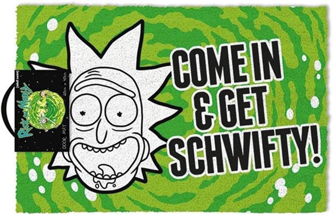 Rick Morty come In Get Schwifty Door Mat