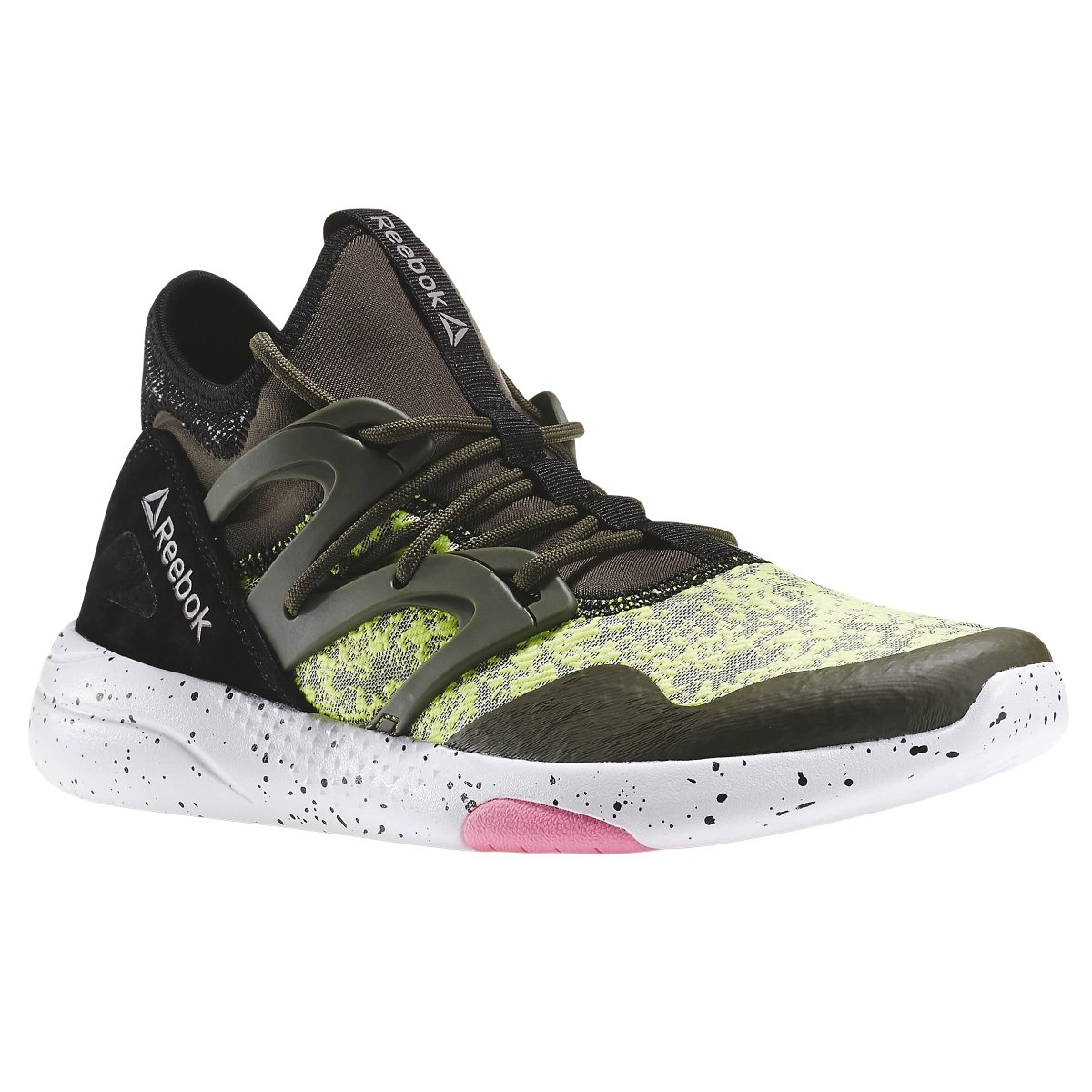 Reebok Women's Hayasu Training Shoe B019P5U73A 5 B(M) US|Poplar Green/Yellow/Black/Pink/Moondust/White
