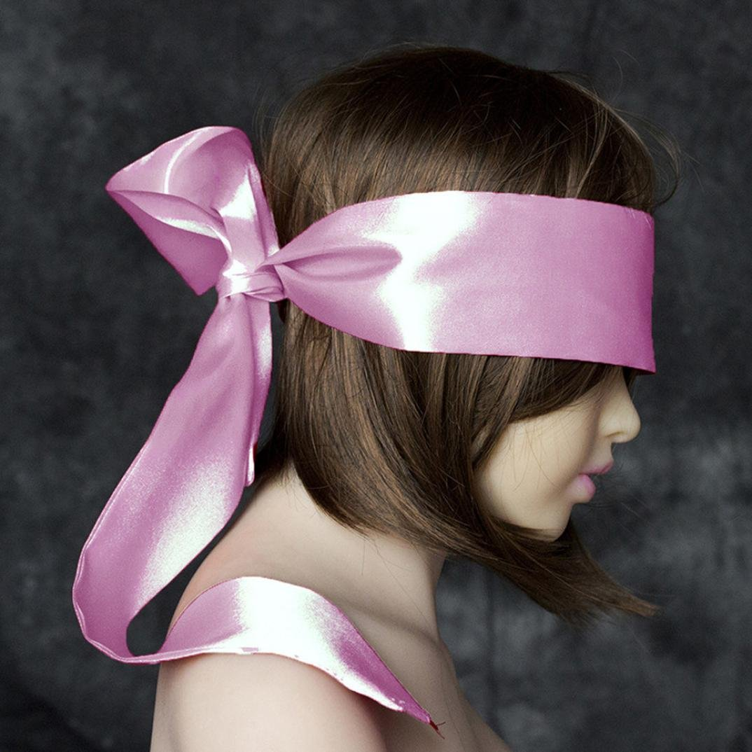 Livoty A good gift Blindfold Fetish Eye Mask SM toys Bondage Restraints For Couples Adult suitable for lovers' night, bedroom and Valentine's Day (pink)