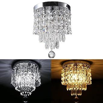 Bling glass crystal chandelier 3 lights modern round semi bling glass crystal chandelier 3 lights modern round semi flushmount crystal ball lighting fixture aloadofball Gallery