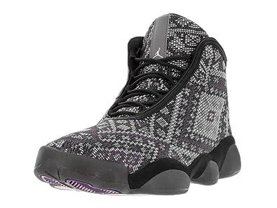 finest selection bc8f6 66698 Nike Jordan Mens Jordan Horizon Premium Black Purple Steel Lght Chrcl  Basketball Shoe 10.5