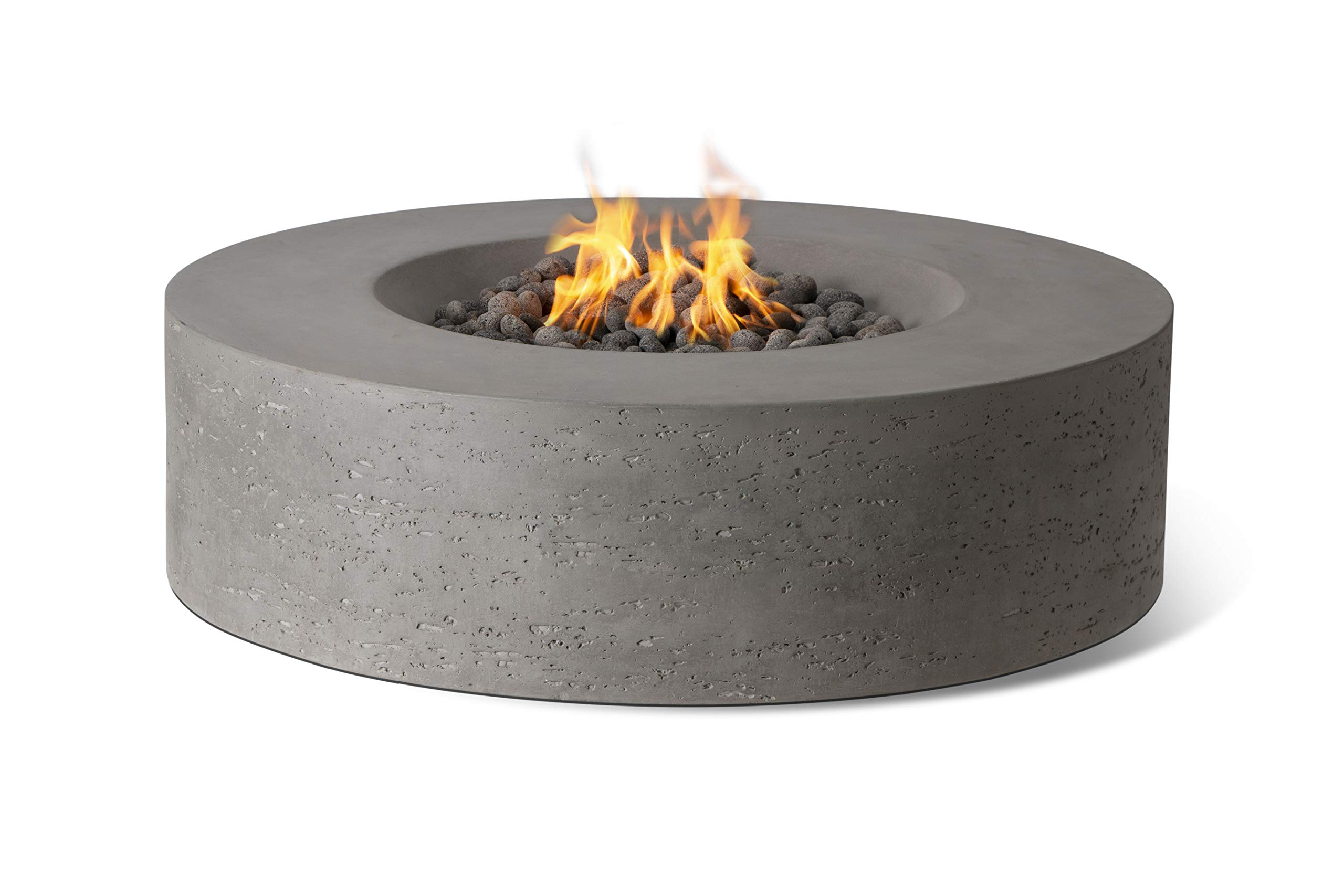 Pyromania Genesis Outdoor Fire Table, Fire Pit Table. Hand Crafted from High Performance Concrete. 60,000 BTU Stainless Steel Burner with Electronic Ignition - Natural Gas, Slate Color by Pyromania