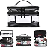 KIPBELIF Makeup Bag, Clear Makeup Pouch Cosmetic Travel Bag Multifunction Case Waterproof Toiletry Bag Portable Storage Organizer for Cosmetics Toiletries(Standard Size)