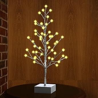 Weihnachtsdeko Lichter.Led Lichterbaum Mit 48er Leds Beleuchtet Malivent Led Baum Lichter Als Weihnachtsdeko 60cm Hoch Warmweiß 3 Aa Batterie Braun Ast Lichterzweig