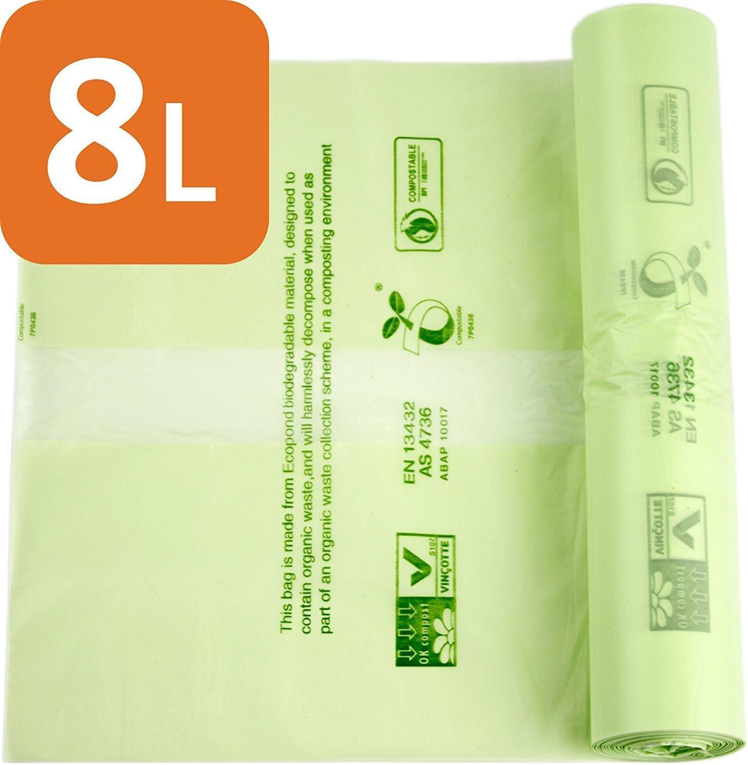 Bolsas de basura compostables de Alina, para alimentos y residuos ...