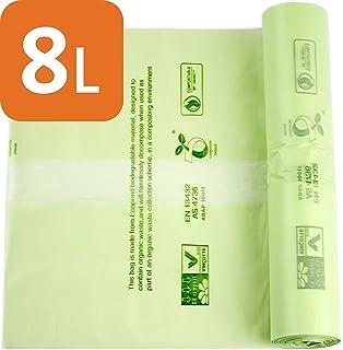 Bolsas de basura compostables de Alina, para alimentos y residuos biodegradables, 8 litros de