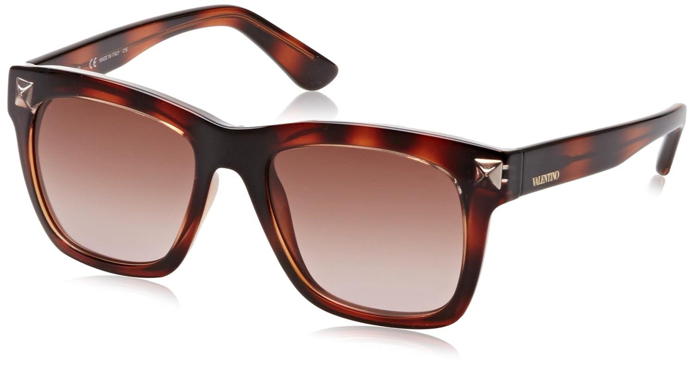 Valentino Eye, Gafas de Sol para Mujer, Marrón (Havana), 52 ...