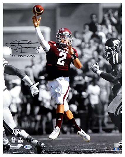6d959d6c2f5 Image Unavailable. Image not available for. Color  Johnny Manziel  Autographed Signed 16x20 Photo Texas A M ...