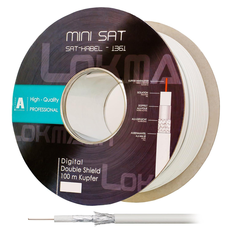 HB Digital 100m Koaxial SAT Kabel Reines KU Kupfer: Amazon.de ...